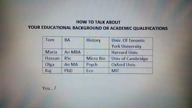 Telling Your Educational Background