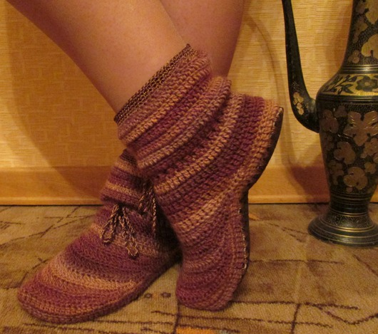 Zapatillas Botines en Crochet Tutorial