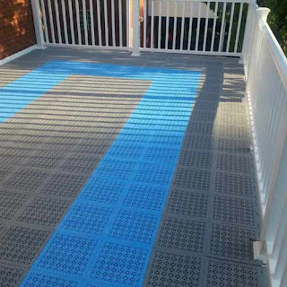 Greatmats Staylock Perforated Deck Patio Tile plastic