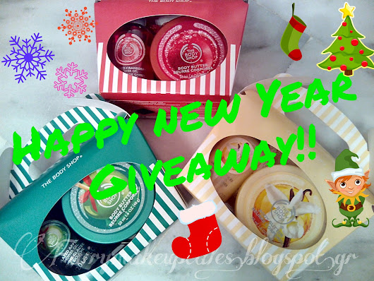 Happy New Year Giveaway with 3 Treat Box Sets from The Body Shop!