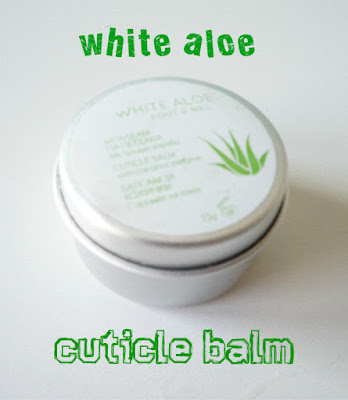 review White aloe cuticle balm