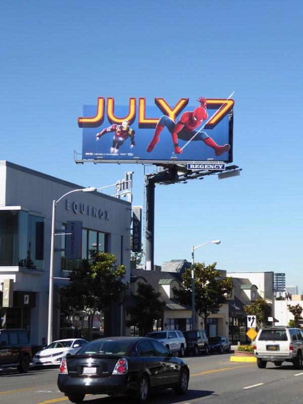 Spiderman Homecoming July 7 billboard