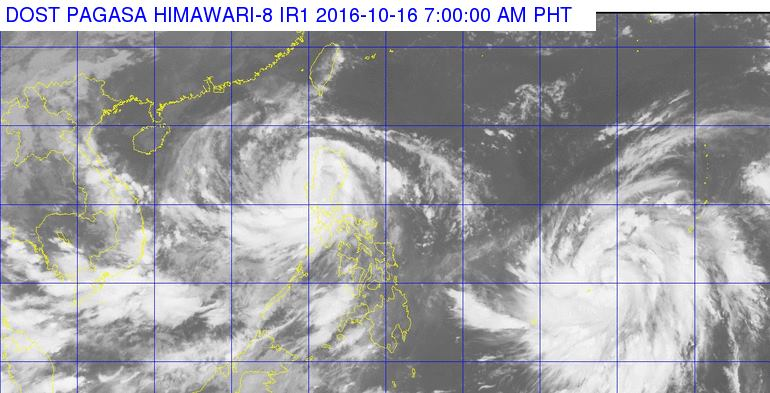 Typhoon Karen and Lawin