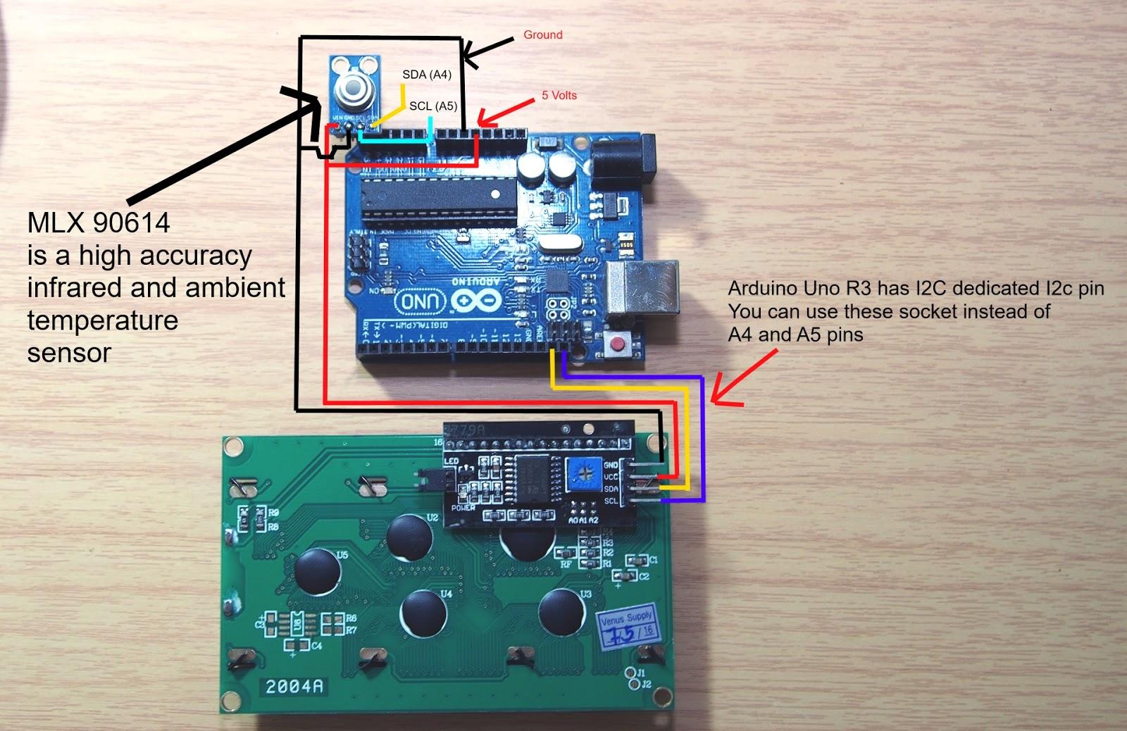 Below is temperature sensor wiring diagram: