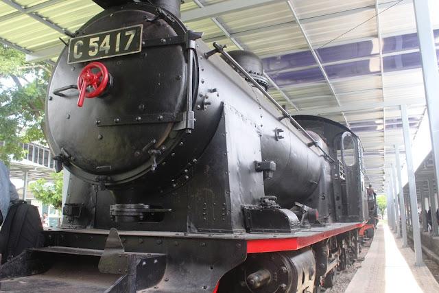 Lokomotif C5417 di Museum Kereta Api Ambarawa
