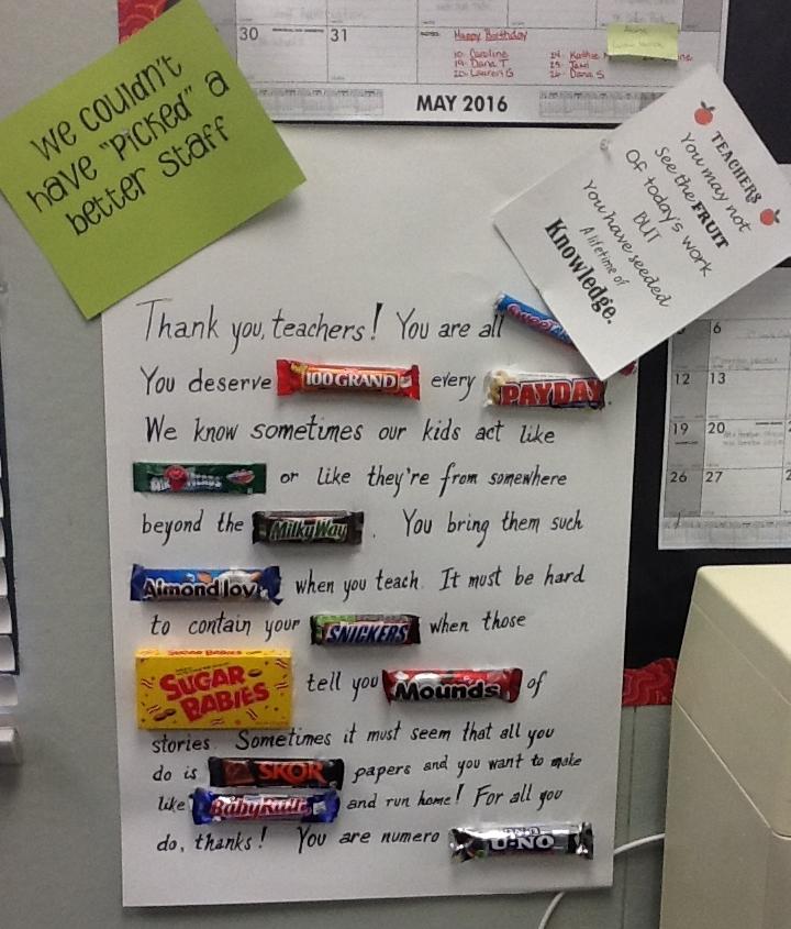 My Teacher's Blog: Teachers Appreciation Poster