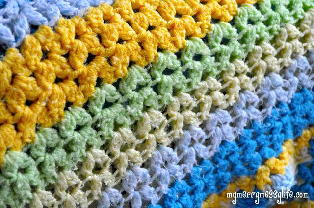 vintage crochet patterns vstitch V-stitch Crochet Baby Blanket Directions