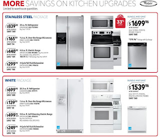 Best Buy home appliances cool values and hot prices, shining stainless steel kitchen packages, attractive white kitchen packages freezers and refrigerators, electric range, microwaves, tub-dishwashers and electric dryer