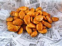 Almendras tostadas al horno con pimentón