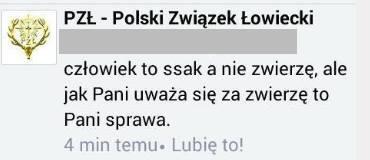 Polski Związek Łowiecki człowiek to nie zwierzę