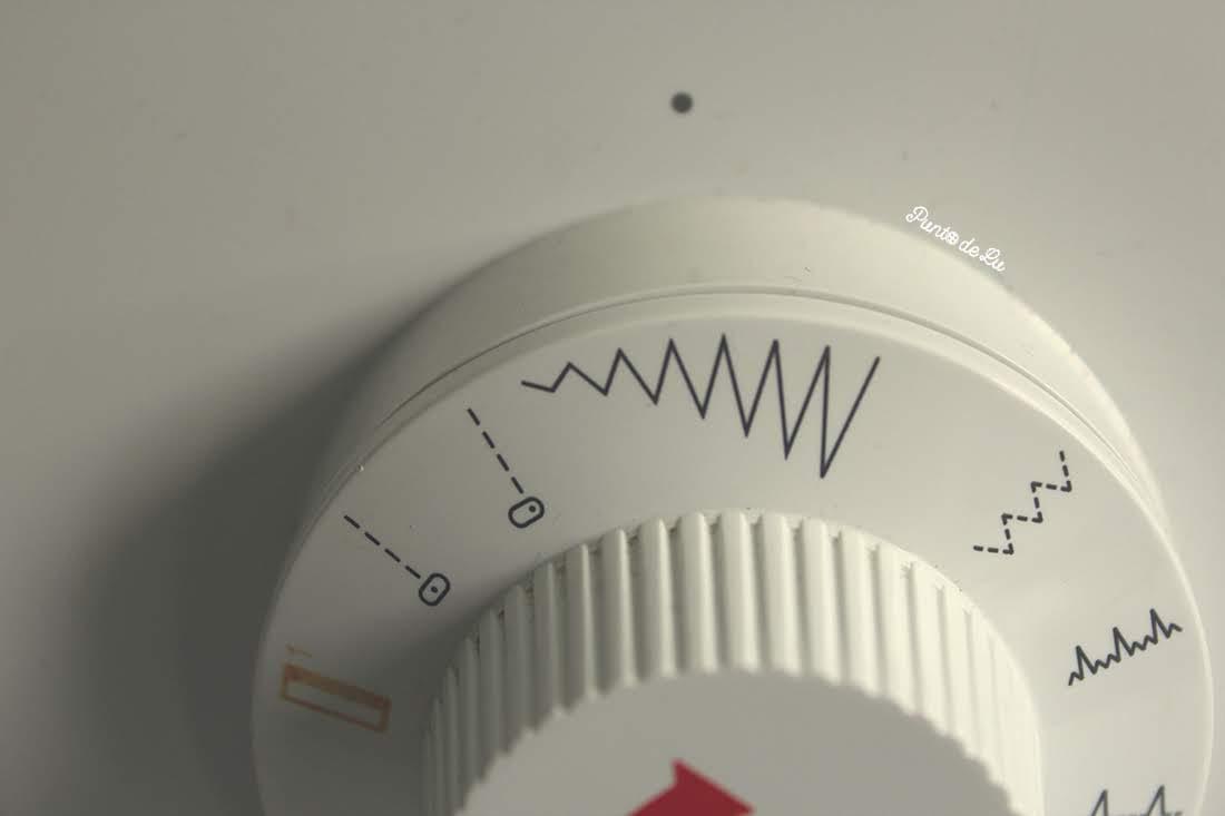 Máquina de coser, partes y funciones principales - Selector del tipo de puntada