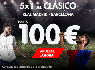 suertia promocion 100 euros El Gran Clásico Real Madrid vs Barcelona 23 diciembre