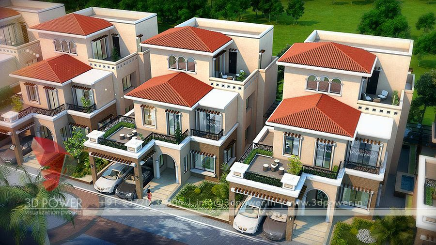 Birds Eye View Of Villas