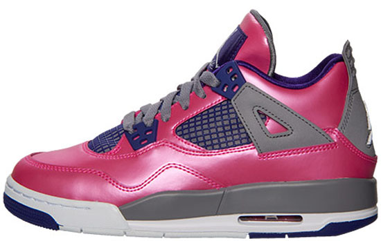 free shipping f935c 49748 08 03 2013 Girl s Air Jordan 4 Retro 487724-607 Pink Foil White-Cement Grey- Electric Purple  115.00