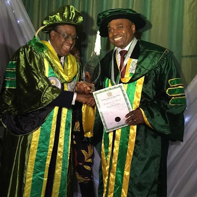 Actor Kenneth Okonkwo bags Honorary Doctorate Degree at the Institute of Chartered Economists of Nigeria