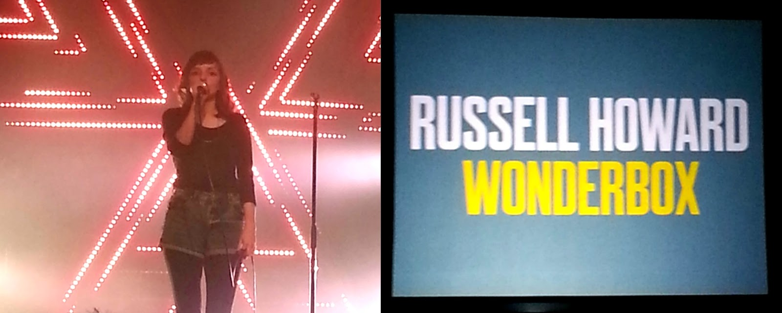 Chvrches Russell Howard Wonderbox