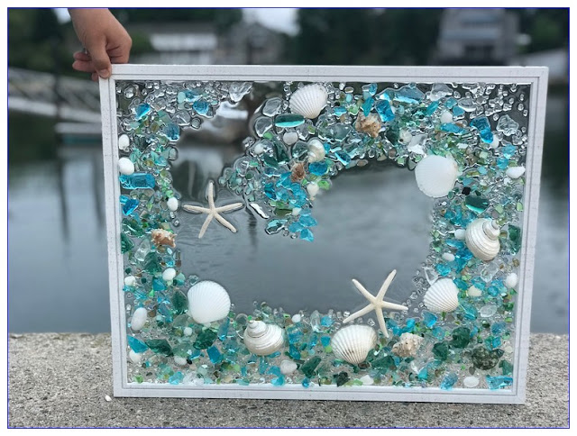 DIY Sea GLASS WINDOWS Art