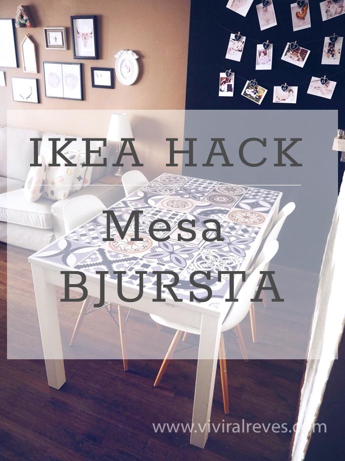 Vivir al Revés: IKEA HACK: Mesa BJURSTA