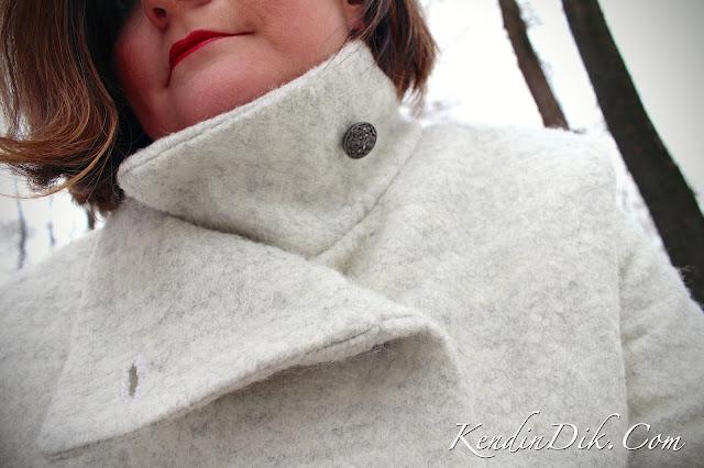 asimetrik yakalı palto, dikiş, moda, tasarım