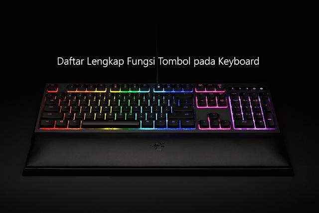 Daftar Lengkap Fungsi Tombol pada Keyboard