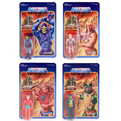 Masters of the Universe Retro Action Figure Series 1 by Super7 - He-Man, Skeletor, Mer-Man & Beastman