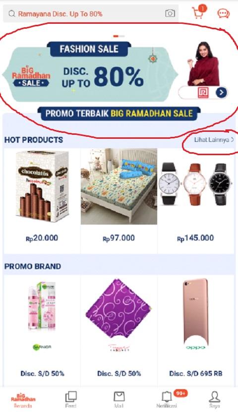 Menu Promo Big Ramadhan Sale di Shopee