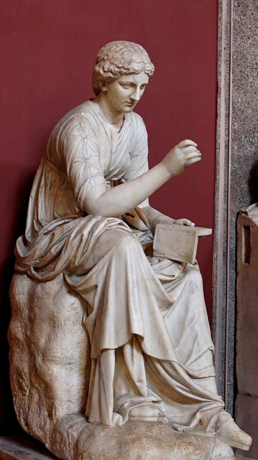 カリオペの彫刻