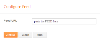 configure gadget feed in blogger
