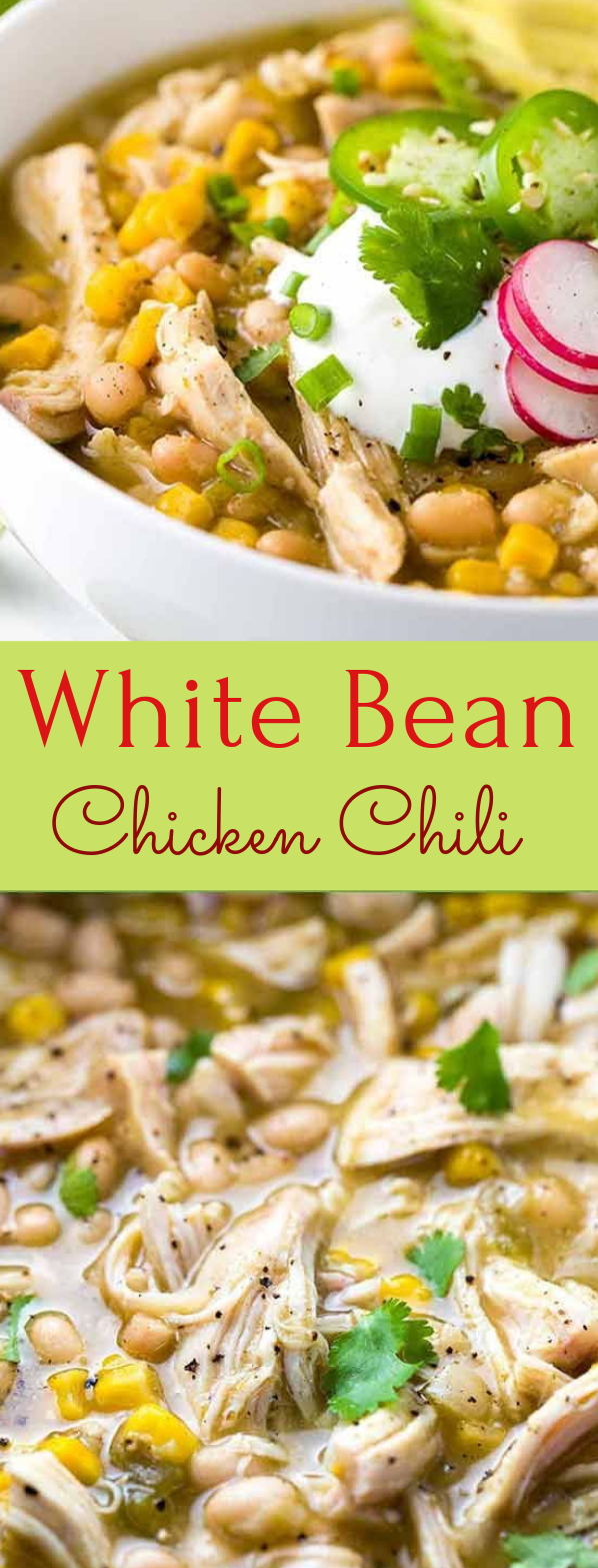 White Bean Chicken Chili #healthyrecipe #eathing