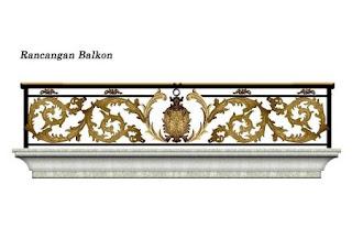 Desain, Railing, Balkon, Besi Tempa, Klasik