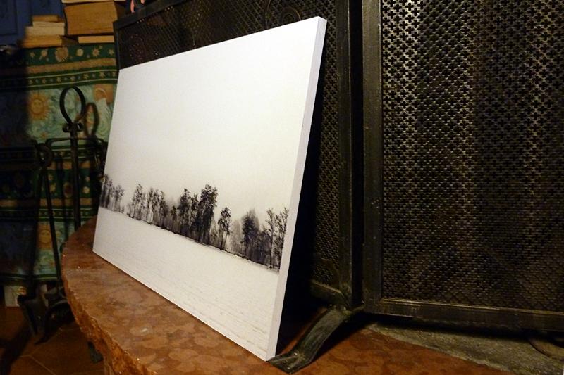 Montare foto su pannelli forex
