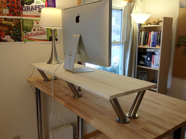 how high should standing desk be