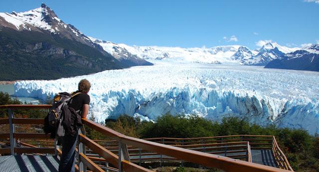 Glaciar Perito Moreno durante o verão em El Calafate