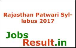 Rajasthan Patwari Syllabus 2017