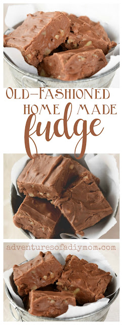 Recipe for old fashioned homemade fudge