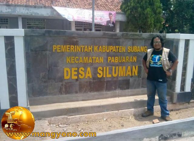 Desa Siluman, Kecamatan Pabuaran. Poto jepretan Mang Dawocx - Facebooker Subang ( FBS ) ... Ups, Mang Dawocxnya ikut nampang hehehe