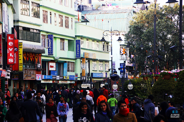 MG Road Gangtok Sikkim Street Tourists