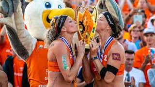 VÓLEY PLAYA - Campeonato de Europa femenino 2018 (Holanda): Sanne Keizer y Madelein Meppelink se hacen de oro en La Haya con Lili Fernández y Elsa Baquerizo cuartas