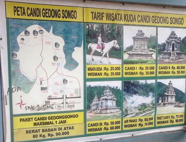 Harga Wisata Berkuda di Candi Gedong Songo