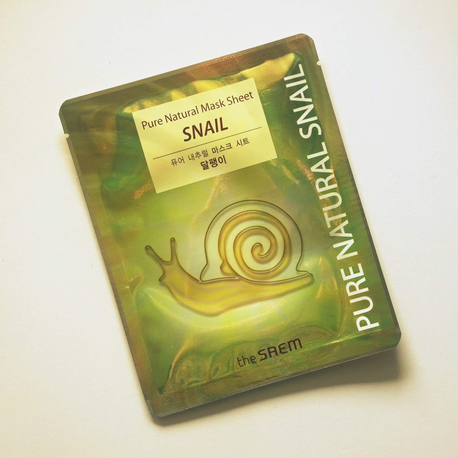 Ślimakowa maska! SAEM: Pure Natural Mask Sheet SNAIL