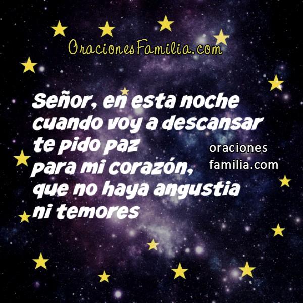 Oración corta cristiana de la noche, frases de buenas noches para dormir confiado con bonitas imágenes de oraciones por Mery Bracho