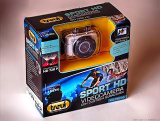 Actioncam Trevi GO 2200HD, confezione