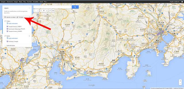 Partager carte Google Maps
