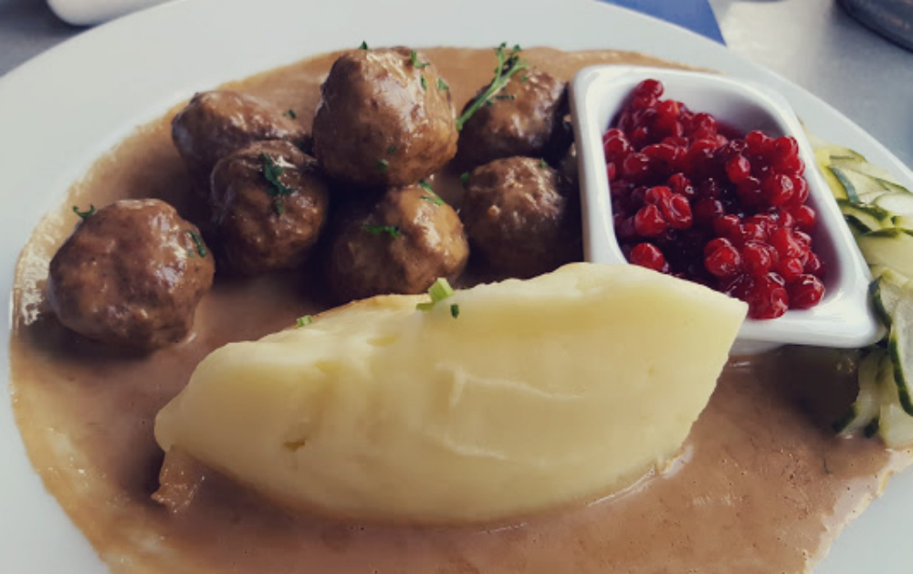 Authentic Swedish Meatballs whilst in Gothenburg