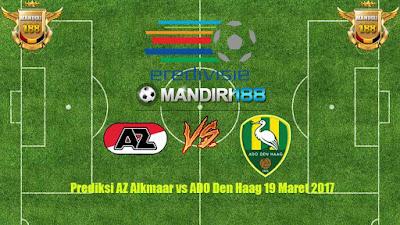 AGEN BOLA - Prediksi AZ Alkmaar vs ADO Den Haag 19 Maret 2017