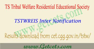 TSTWREIS Results 2019-2020 ts tribal welfare inter exam