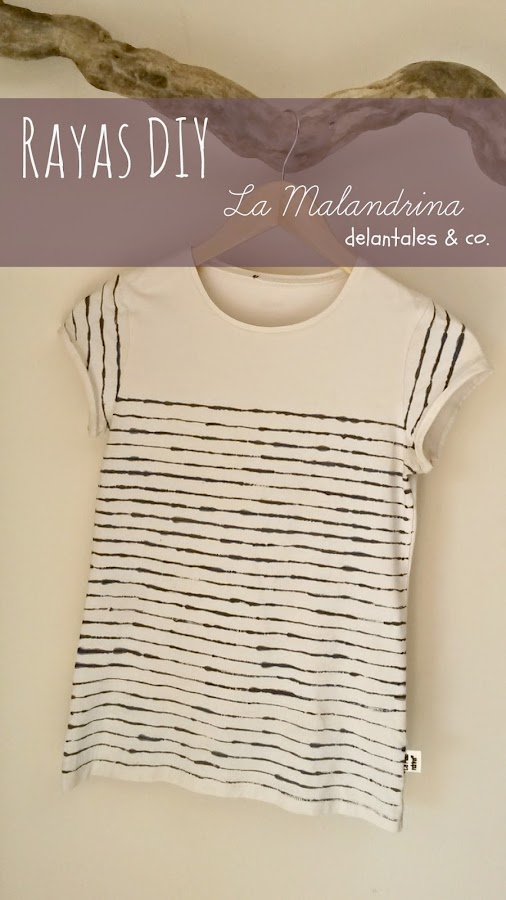 camiseta customizada rayas mariniere DIY