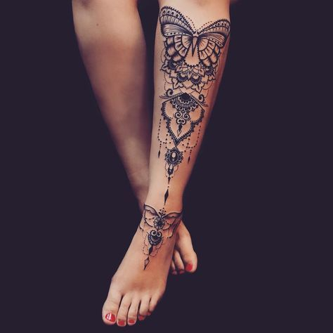 Mytattoolandcom Calf Tattoos For Women
