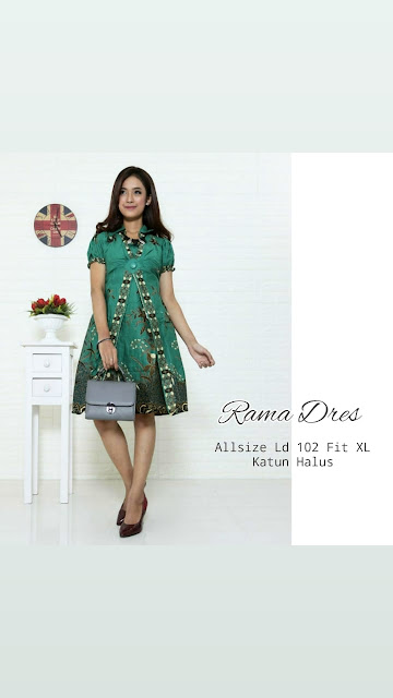 Dress-Batik-Rama-Hijau