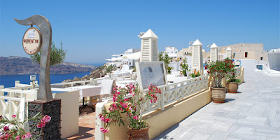 Gastronomía en Santorini